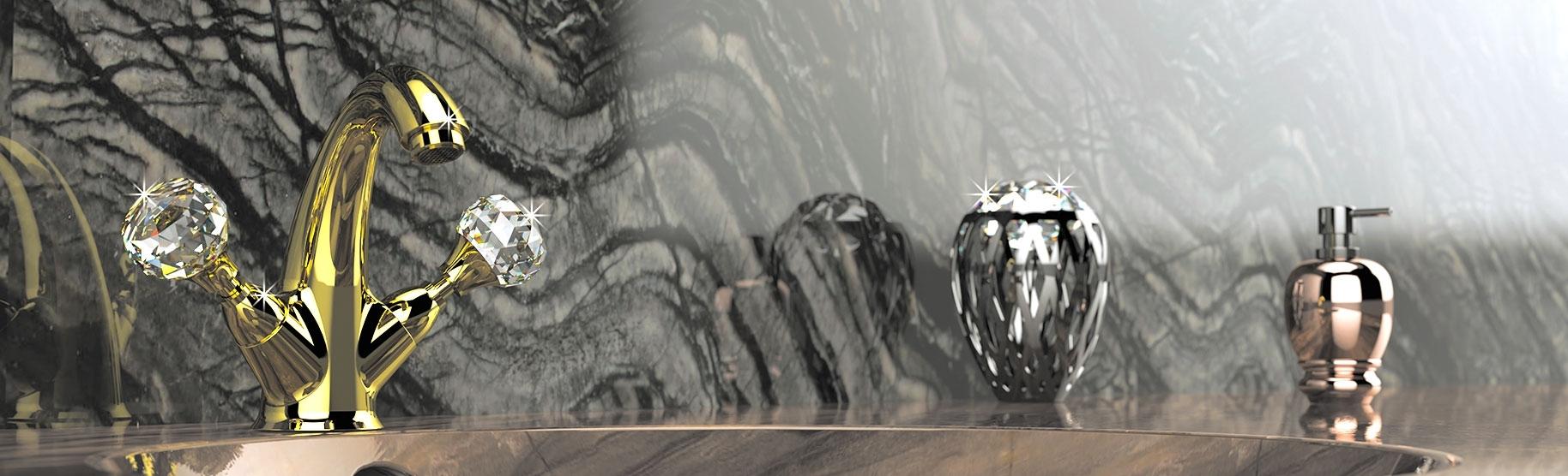 rubinetti cristallo swarovski
